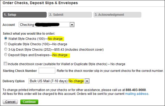 Free checks at Schwab Bank