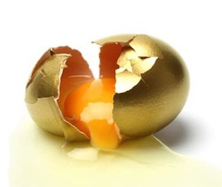 broken golden egg