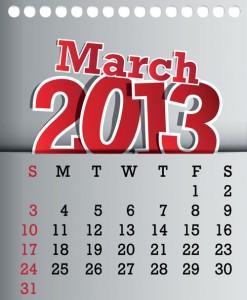 Calendar-2013-March
