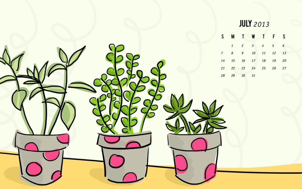 July 2013 wallpaper calendar